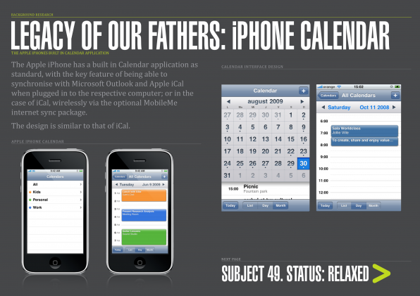 06 - Legacy of our Fathers - iPhone calendar