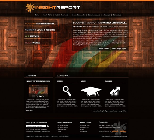 Insight Report - Homepage