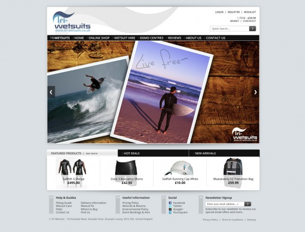 Tri-wetsuits homepage